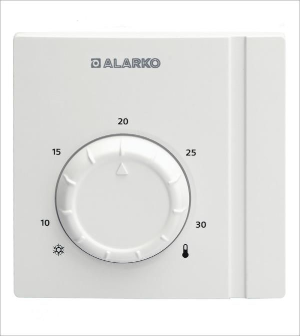 Bir Siemens ürünü olan geliştirilmiş RAA 21/AC yalınız ısıtma ve yalnız soğutma için ayarlanabilir bir oda termostatıdır. İki pozisyon kontrollüdür. Çalışma voltajı 24 ... 250 V AC. RAA 21/AC, ayarlanan oda sıcaklığına göre yalnız ısıtma veya yalnız soğutma sisteminin çalışmasını izler. Termostatın ısıtma ve soğutma sistemleri için ayrı çıkışları vardır. Oda sıcaklığı ayar değerinden daha aşağıya düşerse ısıtma kontağı kapanır ve cihaz çalışarak oda sıcaklığını tekrar ayar sıcaklığına yükseltir. Oda sıcaklığı ayar değerini geçerse soğutma kontağı kapanır ve soğutma cihazı çalışarak oda sıcaklığını tekrar ayar sıcaklığına düşürür. Montajı ve bağlantıları basittir.