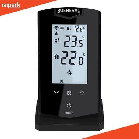 »Akıllı Oda Termostatı <P> »Termostat Üzerinden Sıcaklık Ayarlama <P> »Mobil Uygulama ile Kontrol <P> »Dijital LCD Backlight Ekran <P> »Kablosuz Oda Termostatı <P> »Dış Hava Sıcaklık Göstergesi <P> » Konum Özelliği ile Ev Sıcaklığını Yönetme <P> » Günlük ve Haftalık Program <P> » 6 Farklı Mod Seçeneği (Ev Modu-Uyku Modu-Dışarı Modu-Program Modu-Konum Modu-Manuel Modu) <P> » Geçmiş Çalışma ve Sıcaklık Verileri Raporu   <P> » Hava Durumu Bilgisi